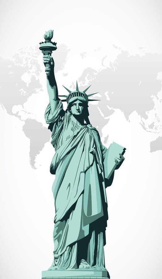 Estatua del vector de la libertad libre illustration
