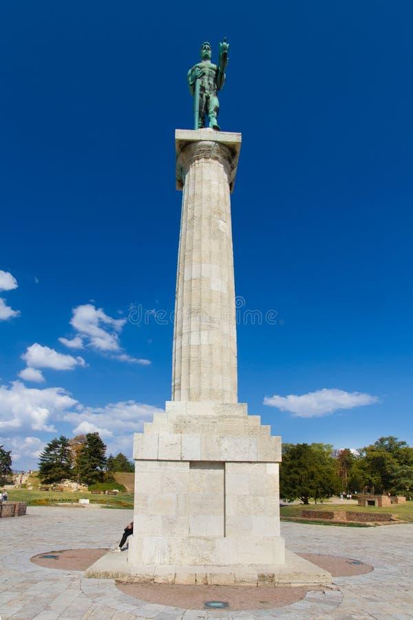 Estatua del vencedor, Belgrado, Serbia imagenes de archivo
