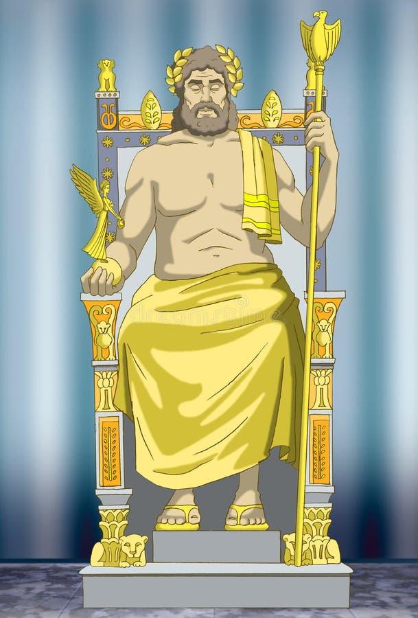 Estatua del Zeus ilustración del vector