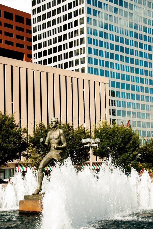 Estatua delante del tribunal en St. Louis imagen de archivo libre de regalías