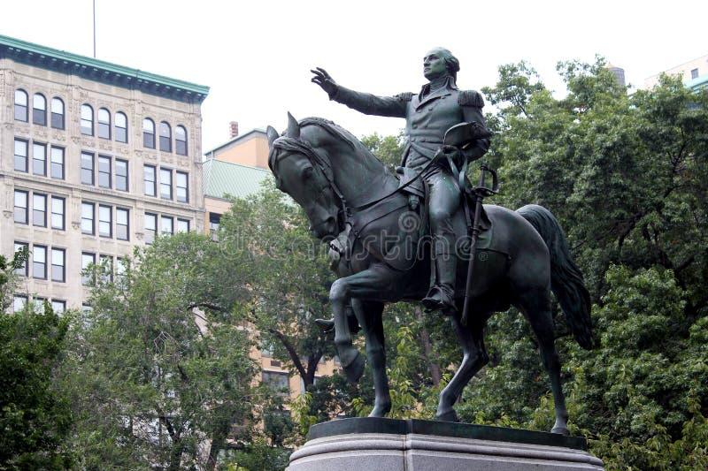 Estatua ecuestre de general George Washington, en el Sid del sur fotografía de archivo libre de regalías