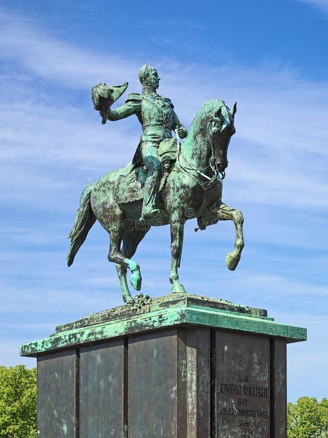 Estatua ecuestre de Guillermo II de los Países Bajos en La Haya, Países Bajos imágenes de archivo libres de regalías