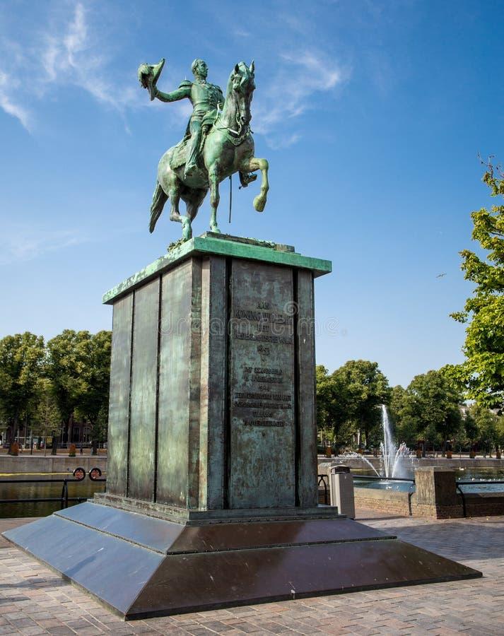 Estatua ecuestre de Guillermo II, rey de los Países Bajos fotos de archivo