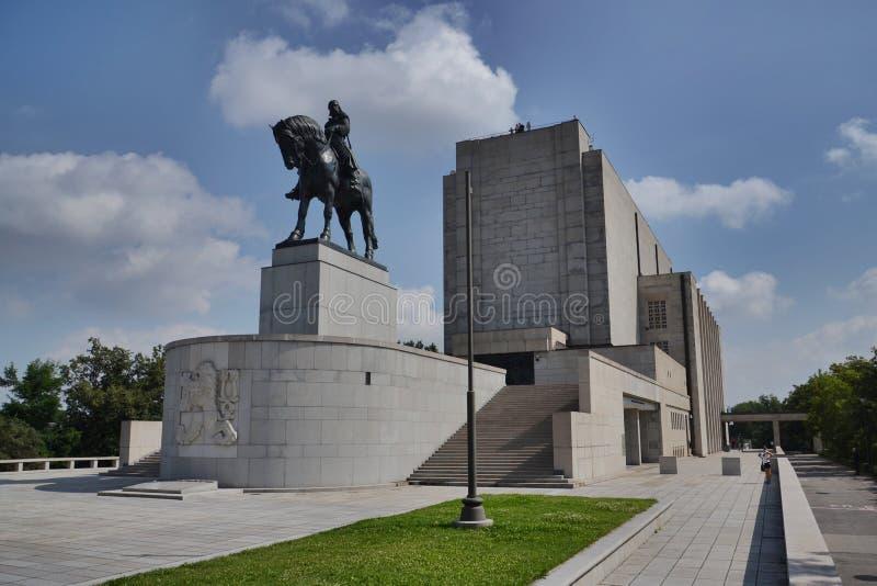 Estatua ecuestre en Praga, República Checa fotografía de archivo