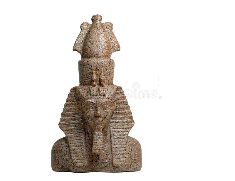Estatua egipcia del Pharaoh imagen de archivo libre de regalías