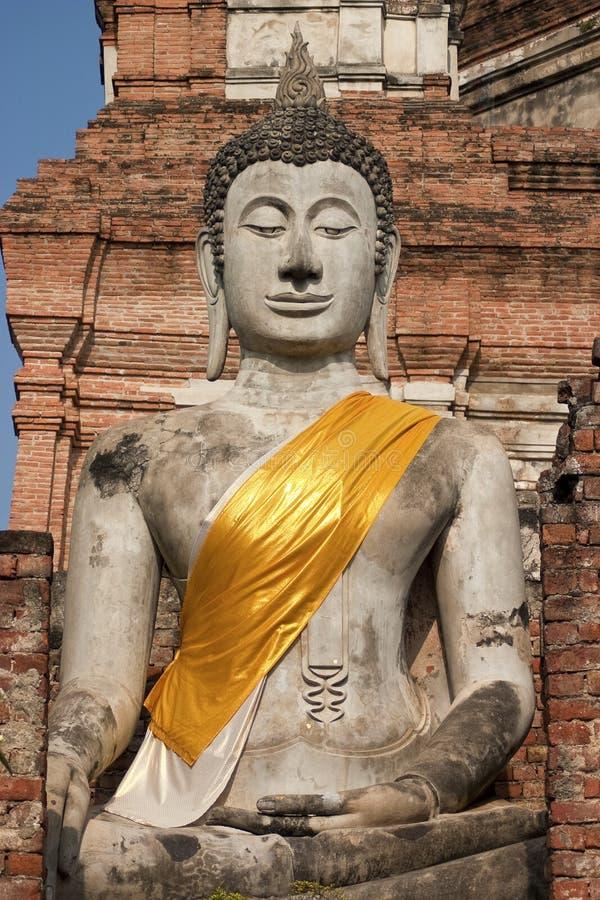 Estatua en Ayuthaya, Tailandia de Buddha imagen de archivo libre de regalías