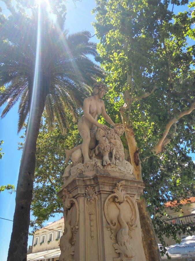 Estatua en Croacia imagen de archivo