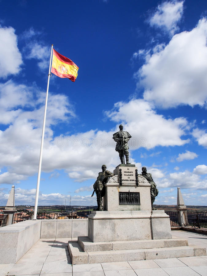 Estatua en el museo del ejército del Alcazar, Toledo, España foto de archivo