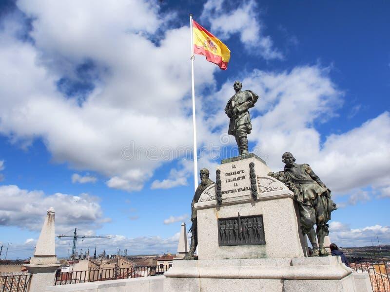 Estatua en el museo del ejército del Alcazar, Toledo, España imágenes de archivo libres de regalías