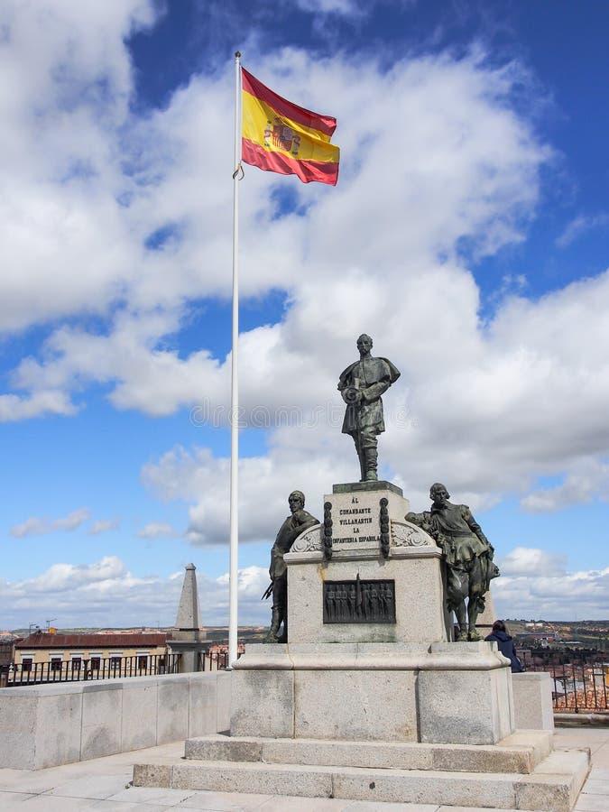 Estatua en el museo del ejército del Alcazar, Toledo, España fotografía de archivo