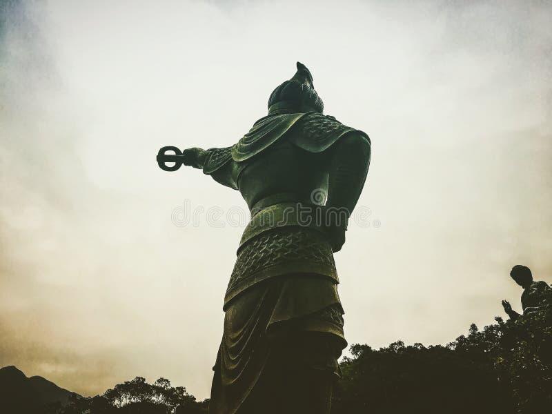 Estatua en el silbido de bala de Ngong fotografía de archivo libre de regalías