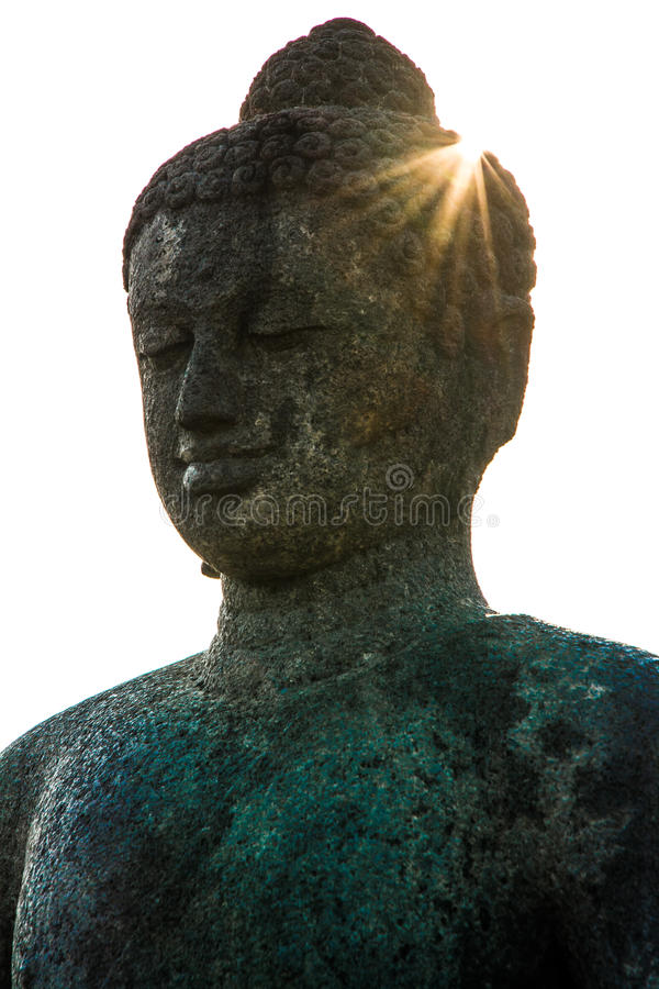 Estatua en el templo budista de Borobudur, Java Island, Indonesia foto de archivo libre de regalías