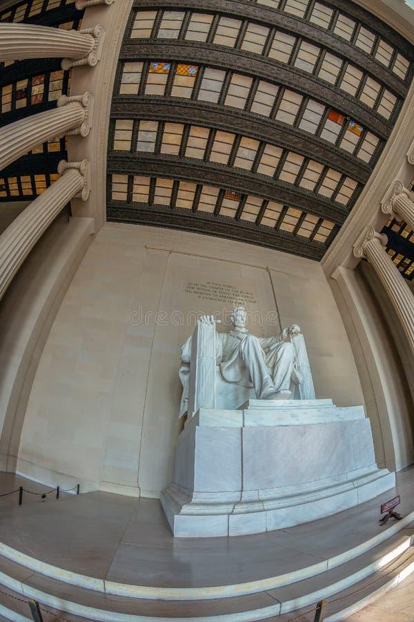 Estatua en Lincoln Memorial, Washington DC, U de Abraham Lincoln fotografía de archivo