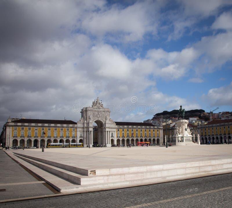 Estatua en Lisboa imágenes de archivo libres de regalías