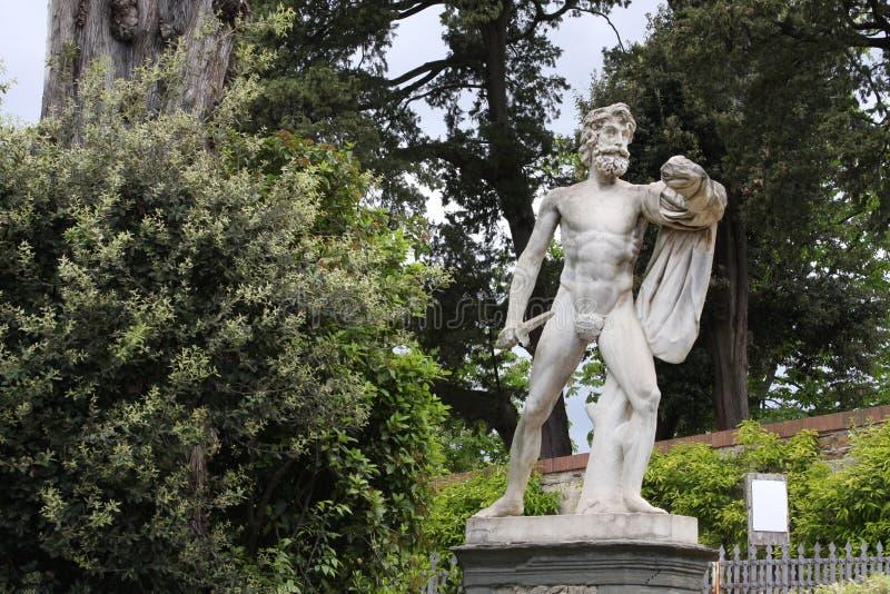 Estatua en los jardines de Boboli - Florencia, Toscana, Italia imagenes de archivo