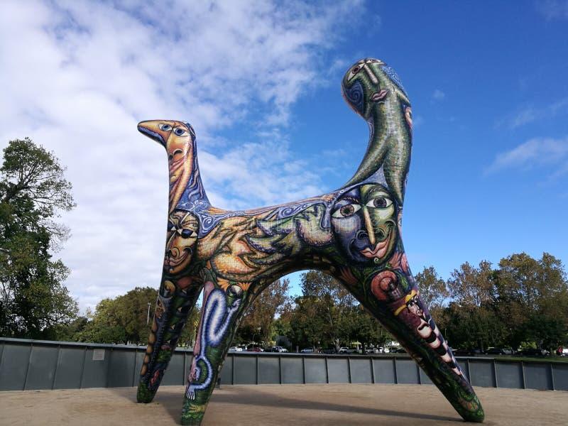 Estatua en Melbourne Australia fotografía de archivo