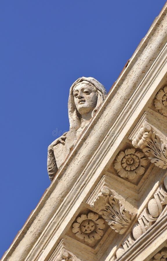 Estatua en Roman Forum fotografía de archivo libre de regalías