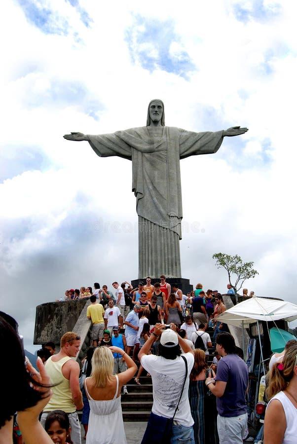 Estatua famosa del Chris en Rio de Janeiro fotografía de archivo libre de regalías