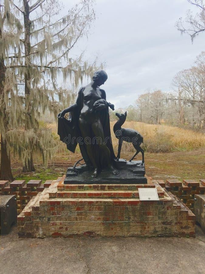 Estatua 'Forest Idyl' de Albin Polasek 1879-1965, Bronce fotografía de archivo libre de regalías