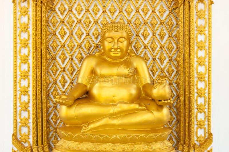 Estatua gorda de oro de Buda fotografía de archivo libre de regalías