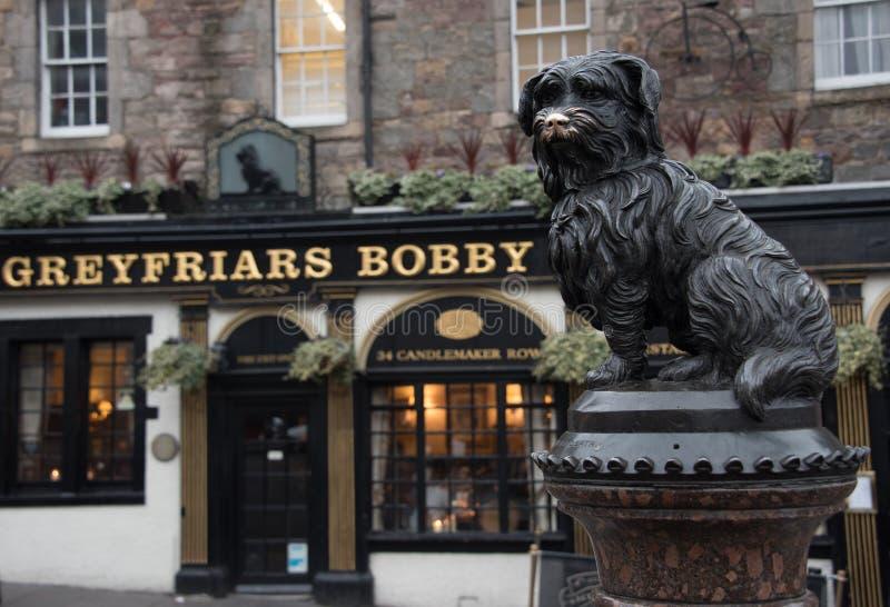 Estatua Greyfriars Bobby Edinburgh foto de archivo