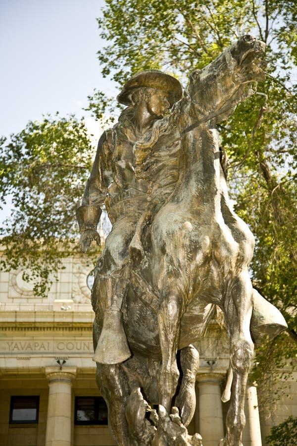 Estatua histórica en Arizona fotografía de archivo libre de regalías