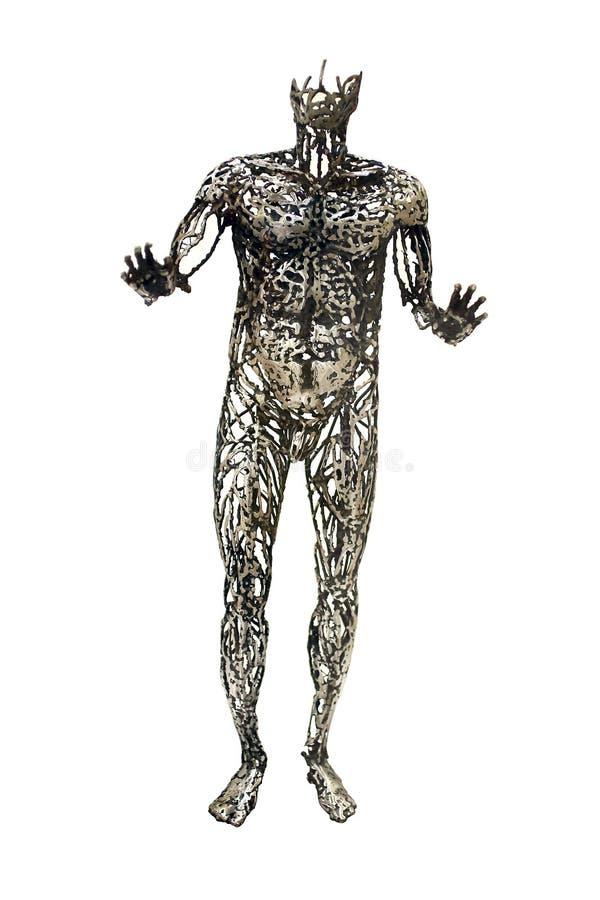 Estatua humana del sistema circulatorio foto de archivo