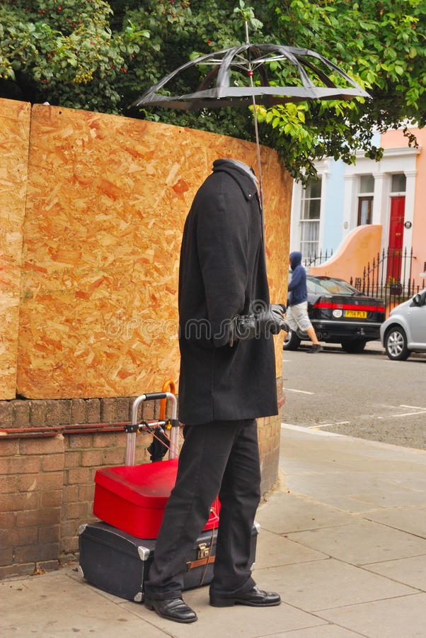 Estatua humana turística fotos de archivo libres de regalías