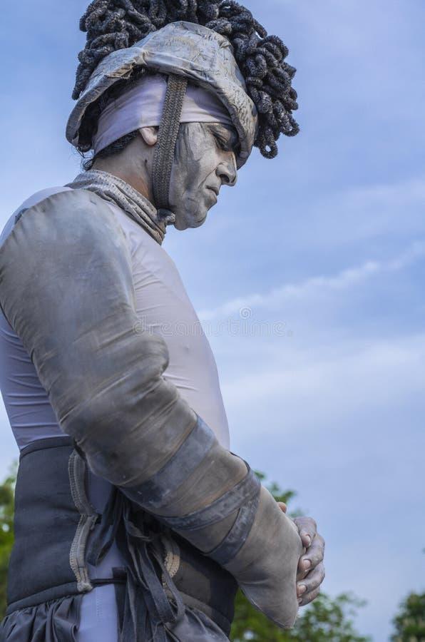 Estatua humana viva imagen de archivo libre de regalías