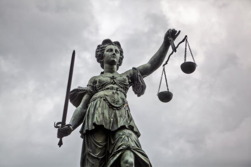 Estatua Justitia foto de archivo