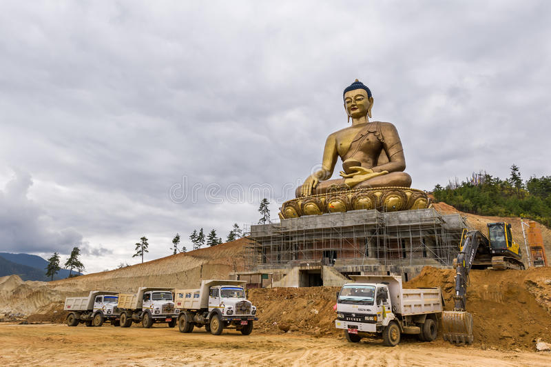 Estatua majestuosa de Buda en Bhután fotografía de archivo