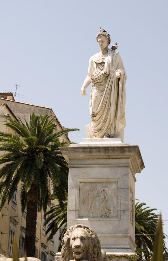 Estatua Napoleon Bonaparte Ajacio Córcega Francia foto de archivo