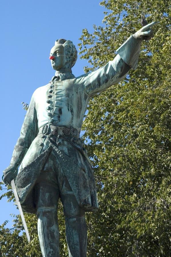 Estatua olfateada fotografía de archivo