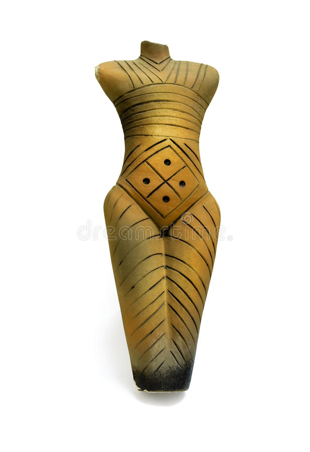 Estatua pagana de cerámica imagenes de archivo