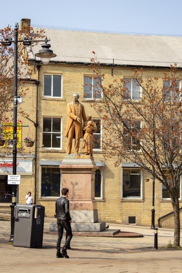 Estatua para honrar al rey de la fábrica fotografía de archivo