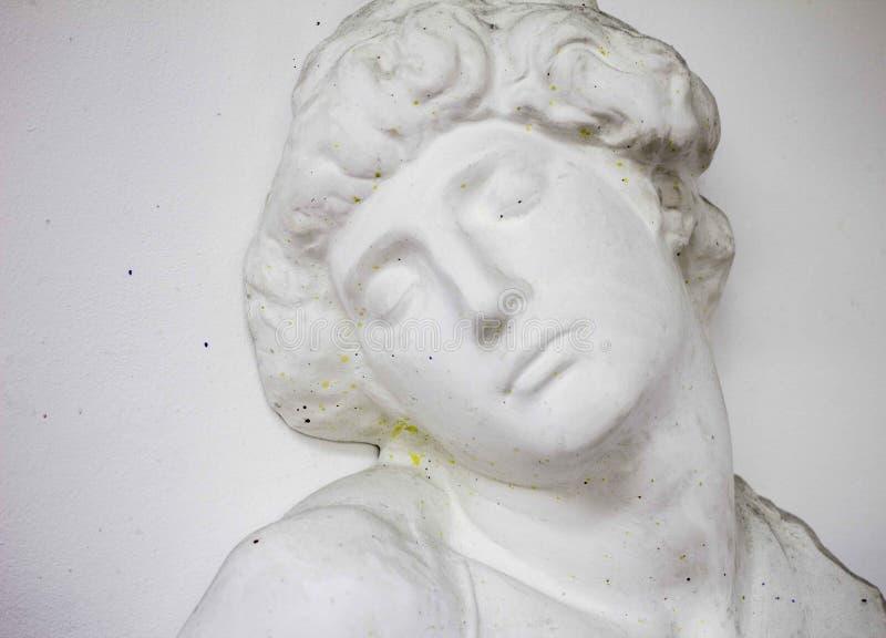 Estatua principal del yeso imagen de archivo