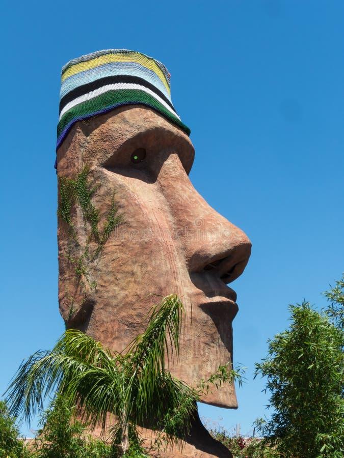 Estatua principal polinesia enorme foto de archivo libre de regalías