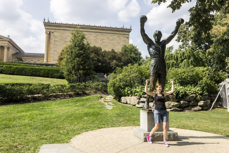 Estatua rocosa, Philadelphia imagenes de archivo