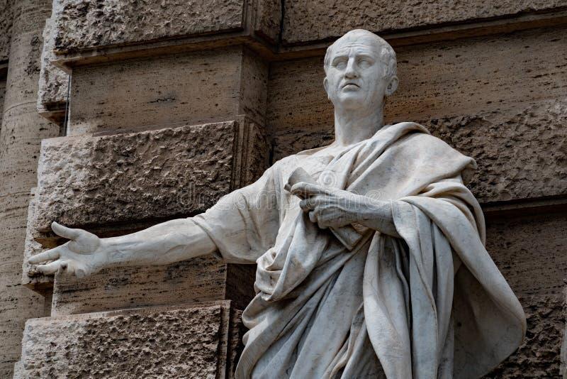 Estatua romana de mármol: Cicero Cicerone imagen de archivo libre de regalías