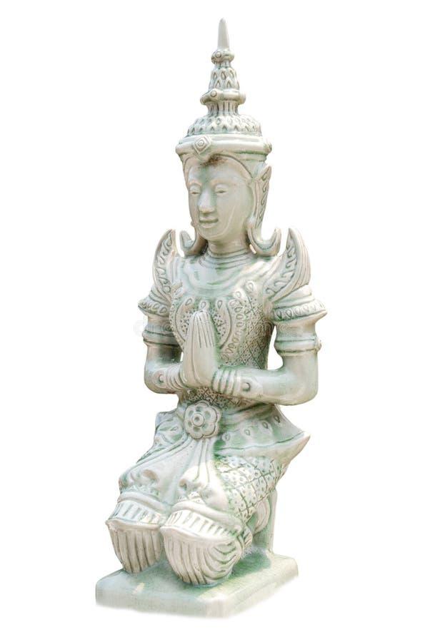 Estatua tailandesa en blanco fotos de archivo libres de regalías