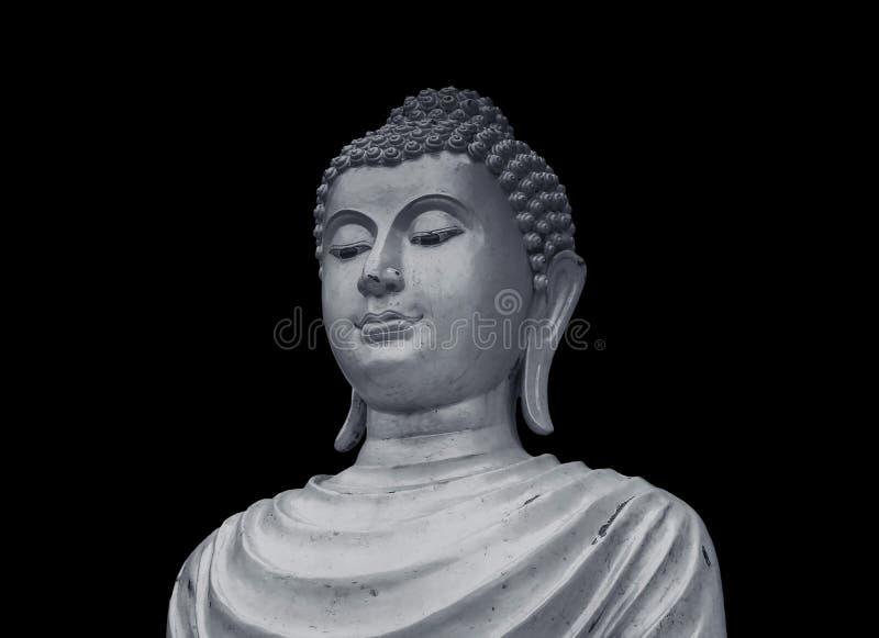 Estatua vieja de Buda del retrato foto de archivo libre de regalías