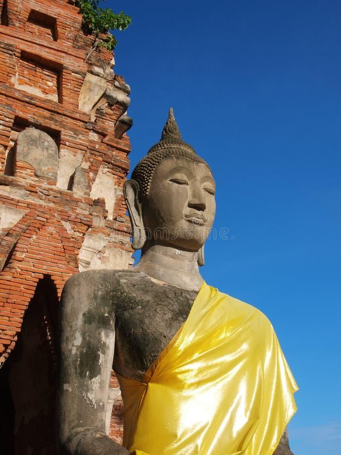 estatua vieja del budda fotos de archivo libres de regalías