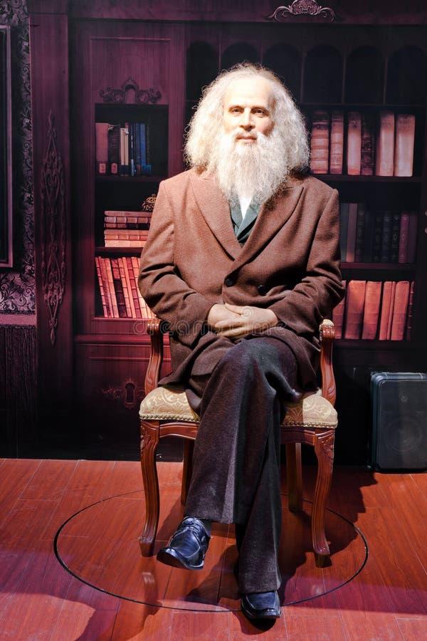 Estatua viva de Dmitry Mendeleev fotos de archivo libres de regalías