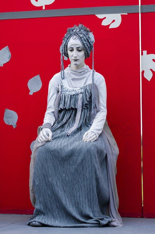 Estatua viva de la mujer griega fotografía de archivo libre de regalías
