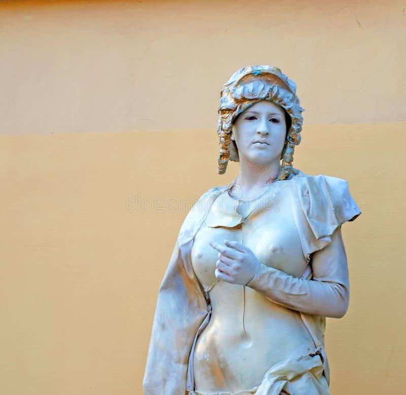 Estatua viva en Evpatoria, Ucrania foto de archivo libre de regalías