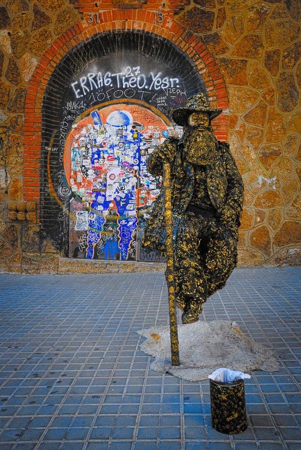 Estatua viva en la calle fotografía de archivo libre de regalías