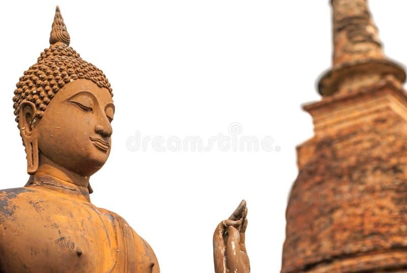 Estatua y pagoda aisladas de Buda fotos de archivo