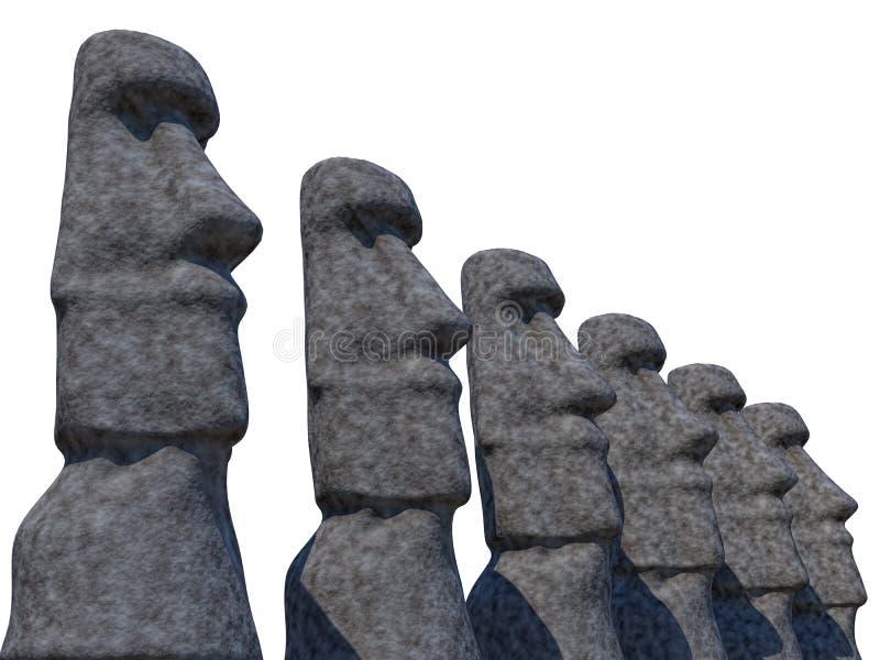 Estatuas ilustración del vector