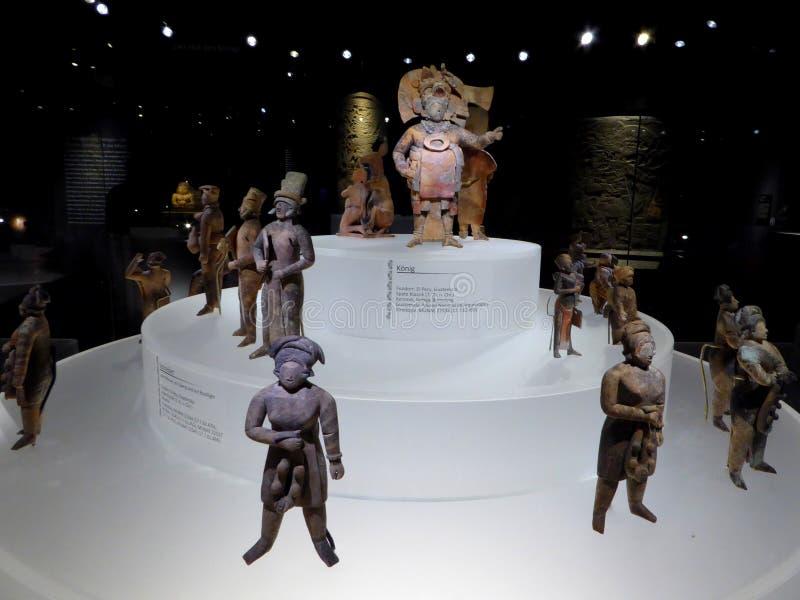 Estatuas acient del arte del maya de México de la gente y del rey mayian fotografía de archivo libre de regalías