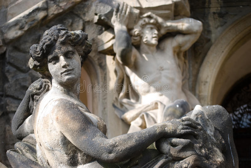 Estatuas barrocas foto de archivo libre de regalías